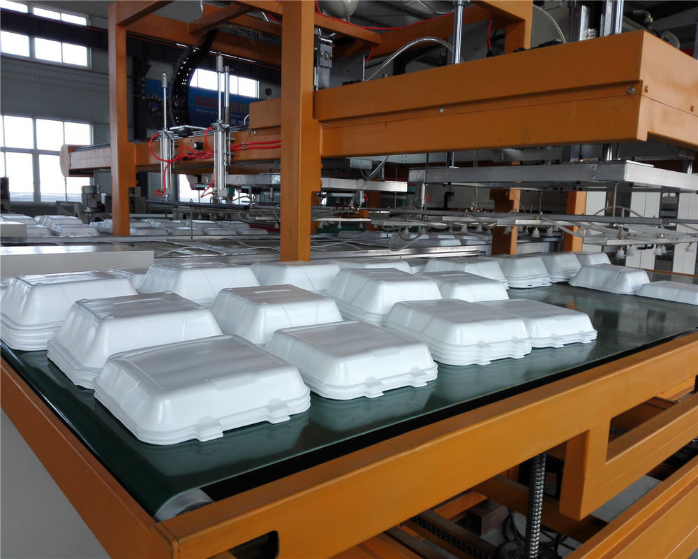 Mechanical Arm PS Foam Food Container Production Line Water Absorption Styrofoam Plate Making Machine
